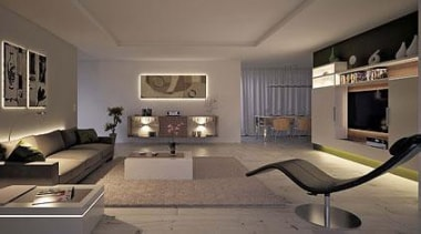 Living with light - Magic Lighting - ceiling ceiling, floor, furniture, interior design, living room, room, gray