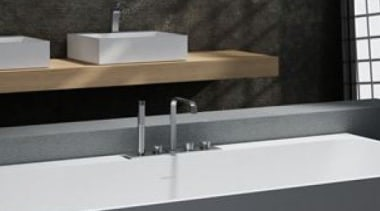Rubino - angle | bathroom | bathroom sink angle, bathroom, bathroom sink, bathtub, floor, interior design, plumbing fixture, product design, sink, tap, black, gray