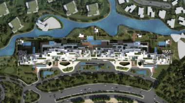 Seventh Heaven is a high-end residential development in aerial photography, bird's eye view, city, mixed use, neighbourhood, residential area, suburb, urban design, brown