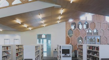 Library Extension - Library Extension - architecture | architecture, ceiling, daylighting, exhibition, institution, interior design, library, public library, gray, black