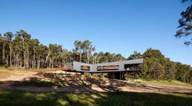 Nannup House, Nannup, Perth, Australiairedale pedersen hook architects cottage, house, land lot, landscape, nature reserve, plant, property, real estate, road, rural area, sky, transport, tree, teal