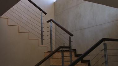 overlay 46.jpg - overlay_46.jpg - angle | architecture angle, architecture, daylighting, glass, handrail, line, stairs, wall, wood, black, gray