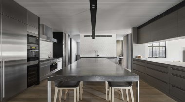Highly Commended - BE Architecture - Highly Commended architecture, countertop, house, interior design, kitchen, gray, black