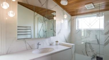 Marble Bathroom - Marble Bathroom - architecture | architecture, bathroom, ceiling, daylighting, home, house, interior design, property, real estate, room, sink, gray