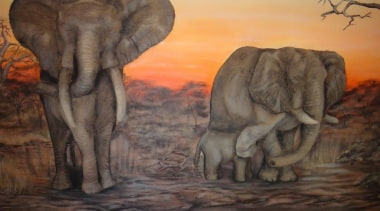 Dcocrete 44 - Dcocrete_44 - african elephant | african elephant, art, elephant, elephants and mammoths, fauna, indian elephant, mammal, organism, painting, savanna, terrestrial animal, tusk, wildlife, black