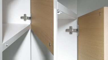 A recessed magnetic push to open system for angle, hinge, product, product design, tap, wood, white