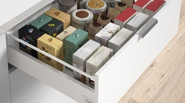Drawer kit in classic white with soft close drawer, furniture, product, product design, table, white