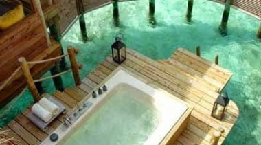 yes please...anytime! Outdoor bathtub - Out of this jacuzzi, leisure, property, swimming pool, wood, brown