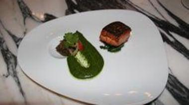 At Euro Bar & Restaurant - At Euro cuisine, dish, food, meal, gray