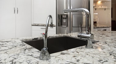 Winner Kitchen Design of the Year 2013 North countertop, floor, flooring, granite, kitchen, sink, tap, white