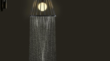 Axor Lampshower by Nendo for Hansgrohe,Wall chrome shower light fixture, lighting, product design, black