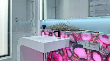 Winner Bathroom Design of the Year South Australia bathroom, countertop, floor, interior design, pink, product, purple, room, sink, gray