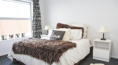 For more information, please visit www.gjgardner.co.nz bed, bed frame, bedroom, floor, home, interior design, property, real estate, room, wall, window, white