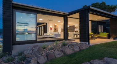 ADNZ Waikato Region Award Winner for Addition and architecture, cottage, estate, facade, home, house, lighting, property, real estate, villa, window, black