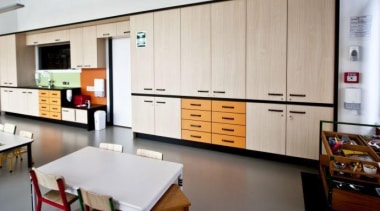 Cabinetry featuring Melteca Dansk Maple - Cabinetry featuring interior design, kitchen, room, gray
