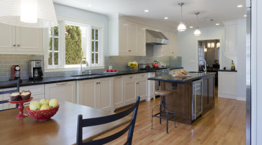 Transitional Kitchen - Transitional Kitchen - cabinetry | cabinetry, countertop, cuisine classique, floor, flooring, hardwood, interior design, kitchen, laminate flooring, real estate, room, wood flooring, gray
