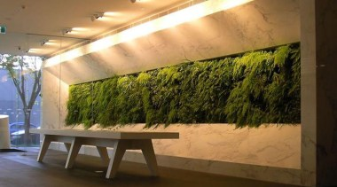 Living Wall - Vertical Garden - architecture | architecture, ceiling, daylighting, interior design, lighting, shade, table, wall, brown