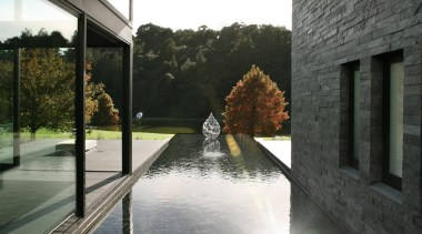 Coatesville House - Coatesville House - architecture | architecture, home, house, property, reflection, water, window, black, gray