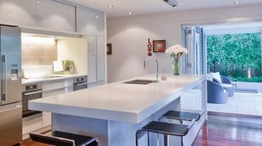 Modern Kitchen - Modern Kitchen - ceiling | ceiling, countertop, floor, flooring, hardwood, interior design, kitchen, real estate, wood flooring, gray