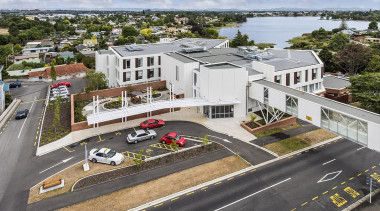 NOMINEEWaikato District Health Board - Older Persons and... bird's eye view, building, city, home, house, mixed use, neighbourhood, property, real estate, residential area, suburb, gray