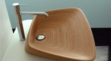 what a  wooden beauty. - Wooden Sink bathroom sink, furniture, plumbing fixture, product, product design, sink, tap, gray, brown