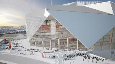 Mercedes-Benz Stadium 08 - Mercedes-Benz Stadium 08 - architecture, building, sport venue, structure, gray