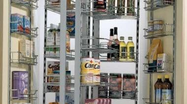 Dispensa duo unit - double - Dispensa duo bookcase, display case, furniture, inventory, pantry, shelf, shelving, gray