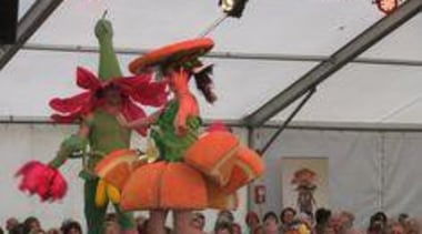 at Ellerslie International Flower Show - Jenny Gillies' carnival, event, festival, gray