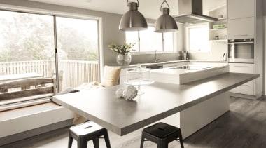 Callidus Architects – TIDA New Zealand Architect-designed countertop, cuisine classique, floor, furniture, interior design, kitchen, table, white