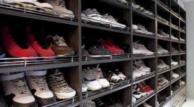 Walking wardrobe for your shoes - Walking Wardrobe closet, inventory, shoe, shoe store, black