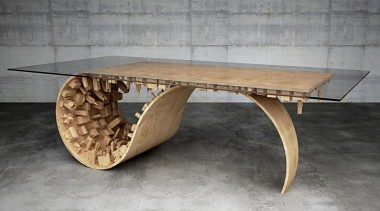Wave City 2 - Wave City 2 - coffee table, furniture, product design, table, wood, gray