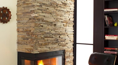Frank Lloyd Wright renovation project in Cambridge, Massachusetts fireplace, hearth, heat, interior design, living room, wood burning stove, white, black