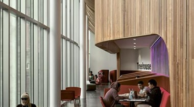 EXCELLENCE AWARDAUT Sir Paul Reeves Building (3 of architecture, ceiling, house, interior design, living room, lobby, loft, wood