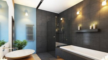 Inspirational gallery bathroom, home, interior design, room, black