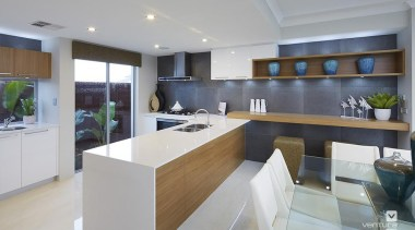 Kitchen design. - The Meridian Two Storey Display countertop, interior design, kitchen, real estate, gray