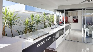 Alfresco entertaining. - The Essence Display Home - countertop, interior design, kitchen, real estate, gray