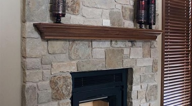 Need to contact Natural Stone Veneers International - fireplace, hearth, gray