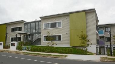 MERIT WINNERGarrison Henshaw (1 of 4) - Arrow building, elevation, facade, home, house, neighbourhood, property, real estate, residential area, siding, gray, white