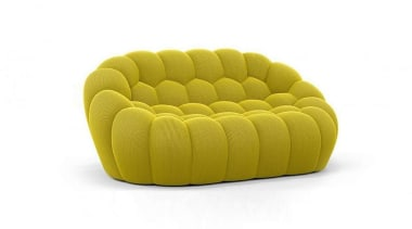 Designed by Sacha Lakic for Parisian design house chair, couch, furniture, product, yellow, white