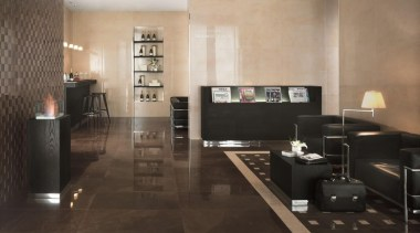 Marvel bronze lounge floor tiles and bronze 3D floor, flooring, furniture, hardwood, interior design, laminate flooring, living room, lobby, room, table, tile, wall, wood, wood flooring, black