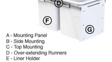 Hideaway Compact Range Features Diagram - Hdieaway Compact hardware, line, material, product, product design, technology, white