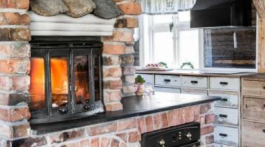 Pizza night - every night! who needs a brick, countertop, fireplace, hearth, masonry oven, gray, black