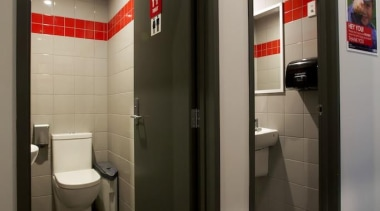 As commercial cleaning specialist's, we have a highly interior design, public toilet, black, gray