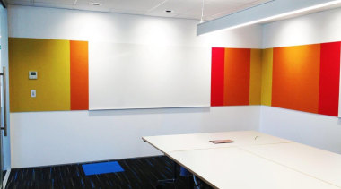 Potter Interior Systems creates customised whiteboard solutions for ceiling, conference hall, floor, flooring, interior design, office, product design, wall, white, gray