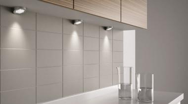 Domus Line Metris V12 LED Spotlight SpacerMade in architecture, ceiling, floor, flooring, glass, interior design, light, light fixture, lighting, product design, tap, tile, wall, gray