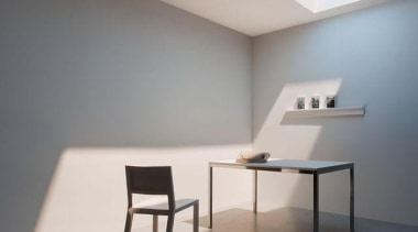 243472coelux2.jpg - 243472coelux2.jpg - architecture | ceiling | architecture, ceiling, chair, daylighting, floor, furniture, interior design, light, light fixture, lighting, product design, table, wall, gray