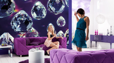 Crystals Interieur - Italian Color Range - furniture furniture, interior design, purple, room, violet, purple, white