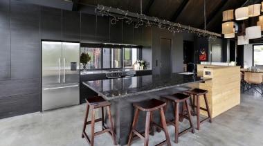 Carlielle Kitchens – TIDA New Zealand Designer countertop, interior design, kitchen, loft, table, gray, black