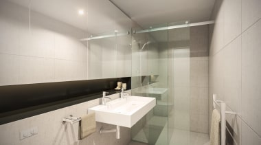 132 Halsey is a centrepiece of Wynyard Quarter, bathroom, interior design, property, real estate, room, sink, gray