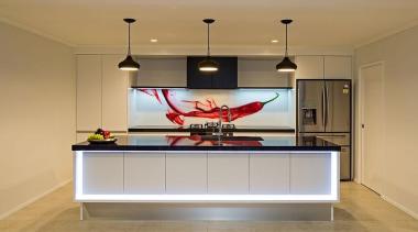 Entrant: Melanie Williams – 2015 NKBA Design Awards cabinetry, ceiling, countertop, floor, flooring, interior design, kitchen, lighting, room, orange, brown